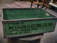 old Western Electric Parts Container    Get there 1st