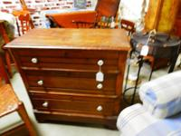 This is a great OLD Dresser, wood, 3 drawer,