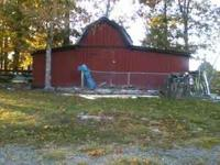 Old wood barn for sale. 2 stalls with storage and loft