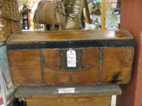 COOL OLD WOODEN CHEST IN BOOTH SPACE # VO4 $165.00 OR