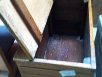 A number of old wooden boxes and wooden trunks will be