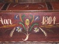 Handmade and hand painted old world hope chest/trunk