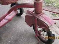 This is an old tricycle i have been having for a long