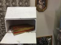 Old Bread Box $30 Shabby Chic Dallas Booth #7777 White