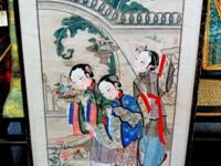 This original hand painted water color of the 3 Chinese