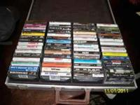APPROX. 120 CASSETTES STORED IN 2 CASES (60 ea.) OF
