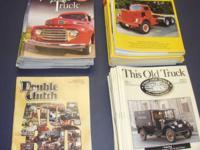 For sale old truck magazines and old gas engine