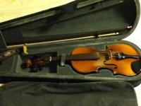 Good condition 1/2 size fiddle Czech Stradivarius copy