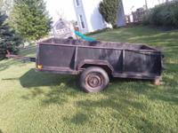 All metal trailer, great for hauling dirt, gravel or