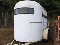 Dual axle, fiberglass, little storage location in