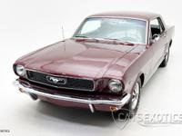 1966 Ford Mustang finished in Burgundy over Black