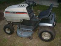 this is an older white riding mower,12 hp briggs