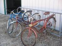 For sale 3 older full size bicycles - blue one on the