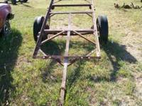 Here is an older homemade trailer frame, about 4'x8'