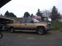 1988 chev 3/4 ton, extended cab, long box, 4x4 auto