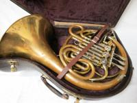 F.E. Olds & Son Double French Horn. Made in Los