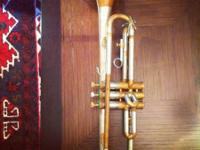 Cool looking two-toned trumpet that would be fantastic