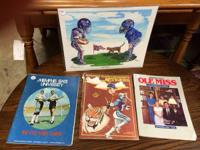 Ole Miss vs. Memphis State Football Programs. 1972,