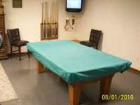 Olhausen Pool Table. 4 ft x 8 Ft slate Billiard table.