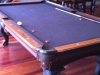 Extremely Sharp Ball & Claw Olhausen 4 X 8 Pool Table