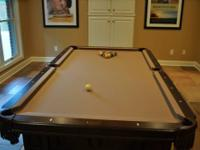 Olhausen 8 foot Remington Pool table. Purchased new in