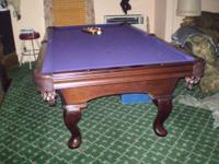 Excellent condition Billard Table with matching cabinet