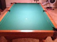 Hello, I have an Olhausen solid oak pool table for