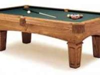 Perfect Full Size Augusta Olhausen Pool Table. 7'