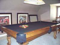 Olhausen pool table - 30th year anniversary addition.
