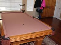 Full size Olhausen slate pool table/ billiards table