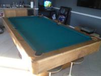 Olhausen pool table in excellent condition. Comes with