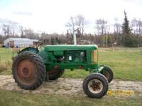This tractor was in the process of being restored, it