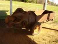 Ground driven, light weight, Oliver manure spreader in