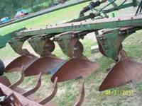 "16"" 4 bottom oliver plow with cylinder, 3 newer mow"