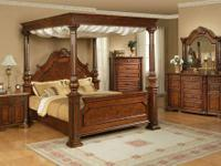 OLIVIA CANOPY BEDROOM GROUP * Solid wood bedroom set *