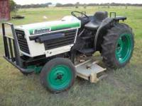 late 80's 27 horse power 3 cylinder diesel tractor with