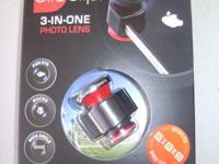Ollo Clip 3 in 1 Quick Change Camera Lens  for Iphone 4