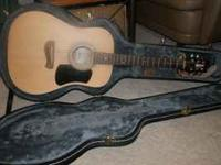 Olympia Tacoma Guitar, made by Yamaha with case, strap