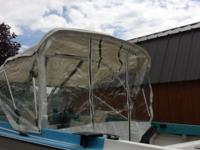 17' fiberglass boat, 30 hours on rebuilt 115 hp