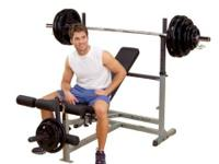 Century Olympic workout bench that is multi-functional