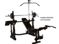 Very complete Olympic Workout Bench Full Olympic-size