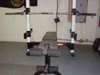 Olympic style weight bench in excellent condition for