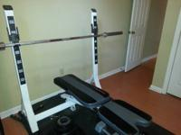This is a Fitness Gear Olympic sized weight bench with