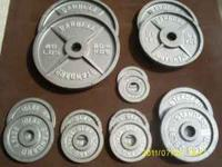 "Olympic Weight Set ------- 255#s of weights ""Standard"