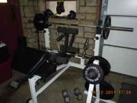 Great set of Olympic weights and bench that includes
