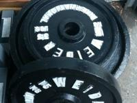 For sale is a Weider olympic weight set. perfect