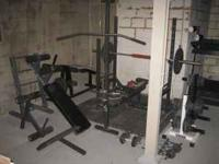 Includes: Olympic Weight Bench (45lb bar) attachments