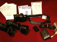 For sale is a full bundle for the Olympus Evolt E-510.