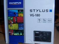A Nice Olypus Stylus VG-180 Digital Camera  16MP