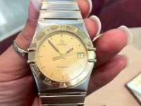 Omega Constellation 18k and SS mens watch. Ref#